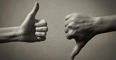 image of thumbs up and down