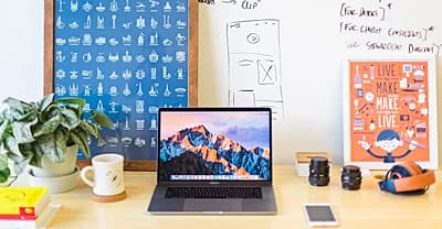 photo of office desk